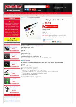 laser de reglage pour carabine