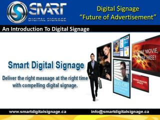 Best Digital Signage Solutions Provider—Smart Digital Signag