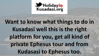Ephesus tours from kusadasi