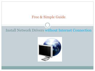 Download and Install Network Drivers after Windows Reinstall