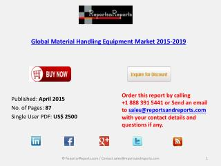 Material Handling Equipment Market 2019 Forecast Worldwide