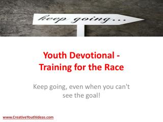 Youth Devotional - Training for the Race