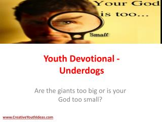 Youth Devotional - Underdogs