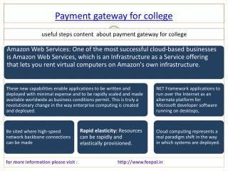Best Source of payment gateway for college