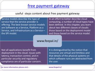 Incredible Benefits of free payment gateway