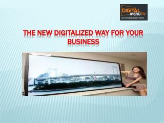 Digital menu, Signage and Floor Standing kiosk Boston