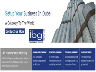 IBG Consulting Dubai - Dubai Mainland Company