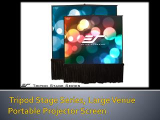 Tripod Stage Series Portable Projection Screen - Elite Scree
