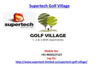 Supertech Golf Village Residential Apartment