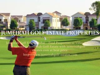 Jumeirah Golf Estate Dubai - Properties, Villas for Rent