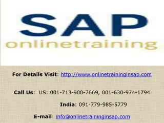 SAP BI (Business Intelligence) Online Training and Placement