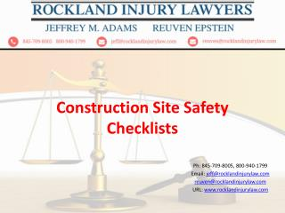 Construction site safety checklist
