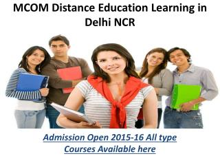 DISTANCE EDUCATION M.COM. IN NOIDA(9278888318)