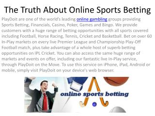 The Truth About Online Sports Betting