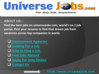 Looking For a Job - Employment Agencies