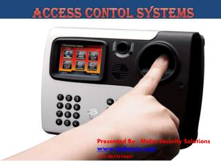 PPT on Access Control Systems