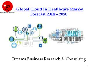 Cloud Market In Healthcare Technologies | Forecast 2014-2020