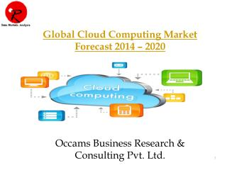 Global Cloud Computing Market | Forecast 2014-2020