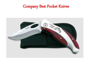 Company Best Pocket Knives