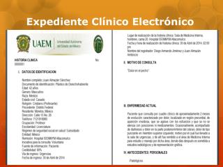 expediente clínico electrónico y desarrollo de pregunta