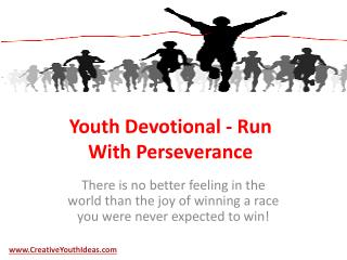 Youth Devotional - Run With Perseverance