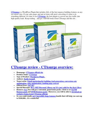 CTAsurge software ultimate review and $12000 BONUSES