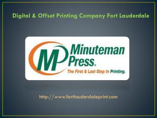 Digital & Offset Printing Company Fort Lauderdale