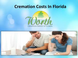 Cremation costs in Florida