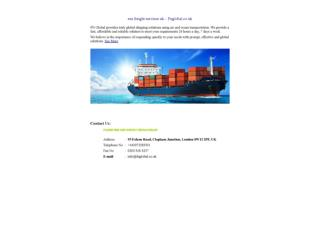 sea freight services uk – Fnglobal.co.uk