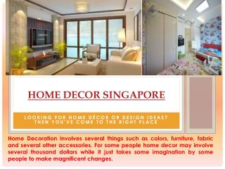 Home Decoration Singapore