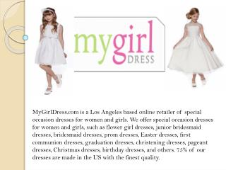 MyGirlDress - Flower Girl Dresses