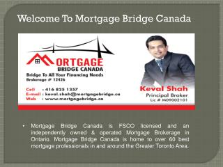 Best Mortgage Rates at Mortgage Bridge Canada