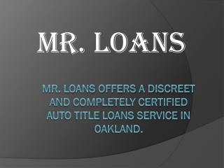 Mr. Loans Car Title Loans