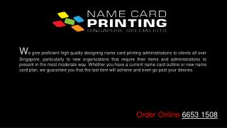 Professional name card printing services