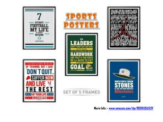 Five Sports Posters Set
