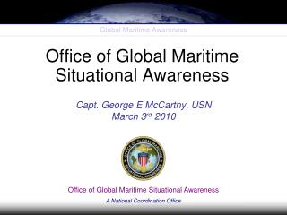 Office of Global Maritime Situational Awareness