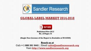 Global Label Market Scenario & Growth Prospects 2018