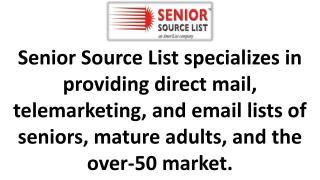 Senior Citizen Mailing List