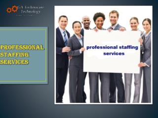 Avail The Best Professional Staffing Services By GA Technoca