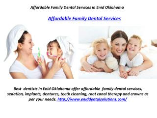Affordable Family Dental Services