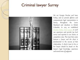 Criminal lawyer Surrey