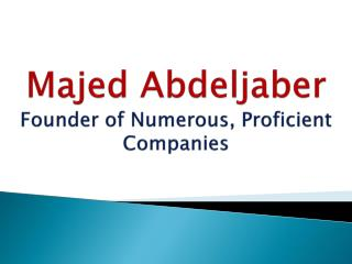 Majed Abdeljaber Industrialist