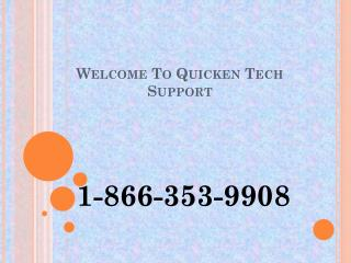 1-866-353-9908| Quicken Help Phone Number USA