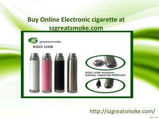 Buy online electronic cigarette at szgreatsmoke.com