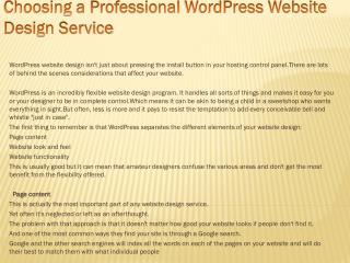 Choosing a Professional WordPress Website Design Service