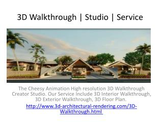 3D Walkthrough | Studio | Service