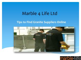 Tips to find granite suppliers online