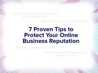 7 Secrets to Online Business Reputation Management