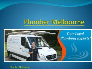 Best Plumber in Melbourne