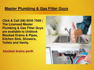 Blocked Drains Repair Perth
